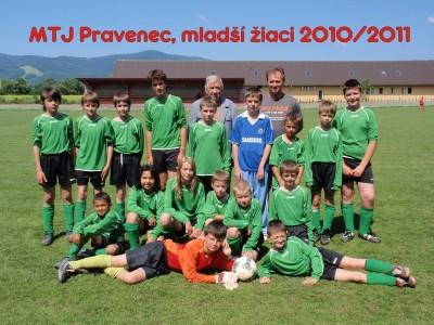MTJ Pravenec, mladsi ziaci, 2010/2011